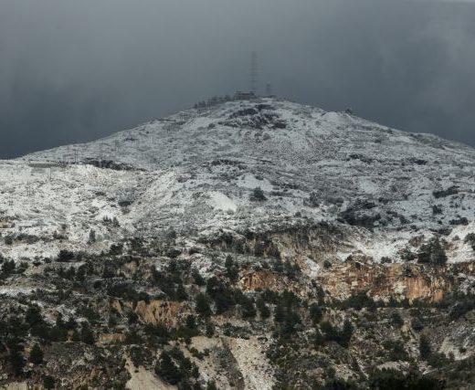 Snow on the mountain of Penteli, Athens, December 26, 2018 / Χιόνια στην Πεντέλη, στην Αθήνα, 26 Δεκεμβρίου, 2018