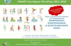 Λειτουργία Κέντρων Δημιουργικής Απασχόλησης Παιδιών στο Δήμο Πεντέλης